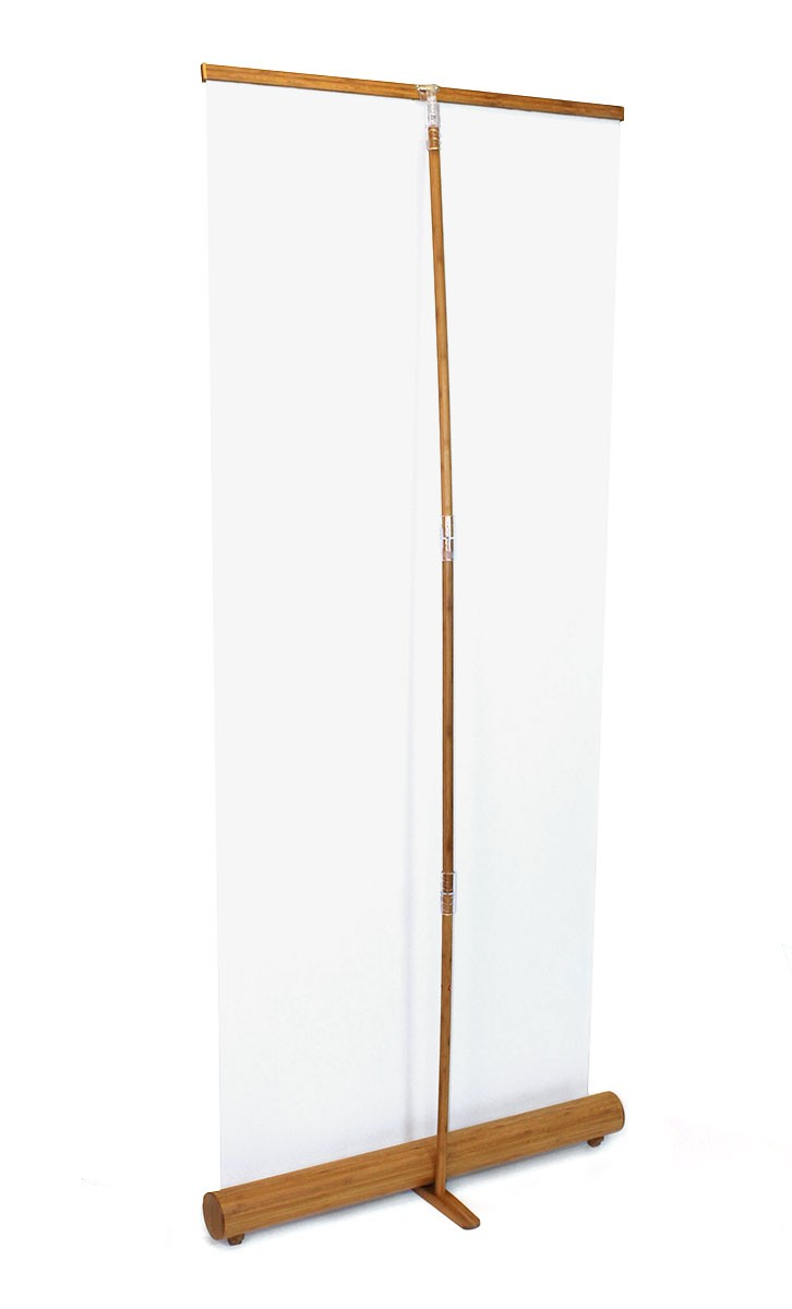 Trade Banner Stands : Bamboo roll up banner stand tradeshowdisplaypros
