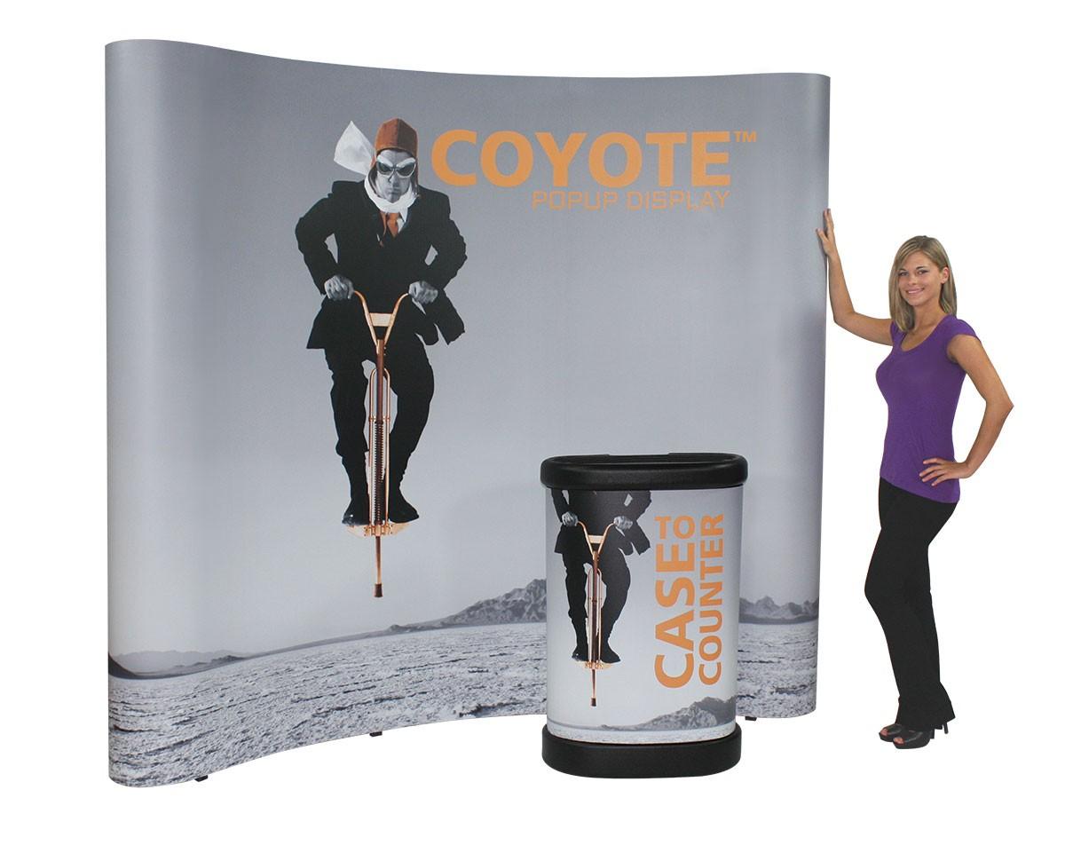 Coyote 4x3 10 Curved Frame Pop Up Tradeshowdisplayproscom