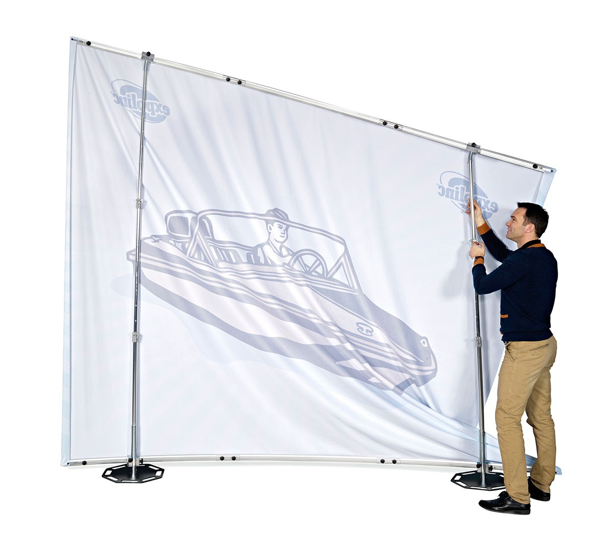 Expolinc Fabric System 10x8 Straight Wall