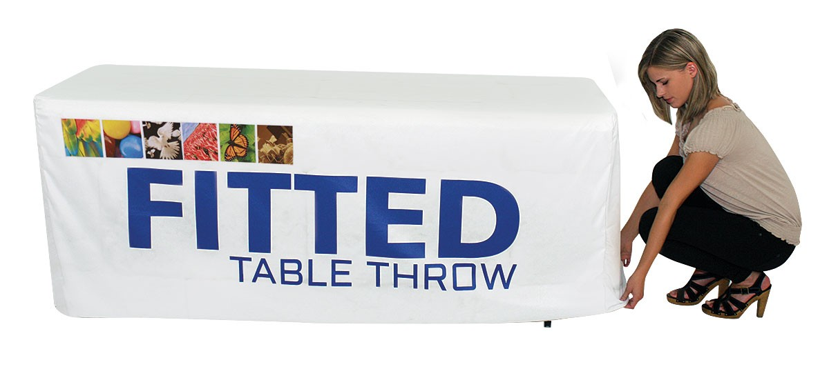 Full Color Fitted Table Throw for 8 foot table