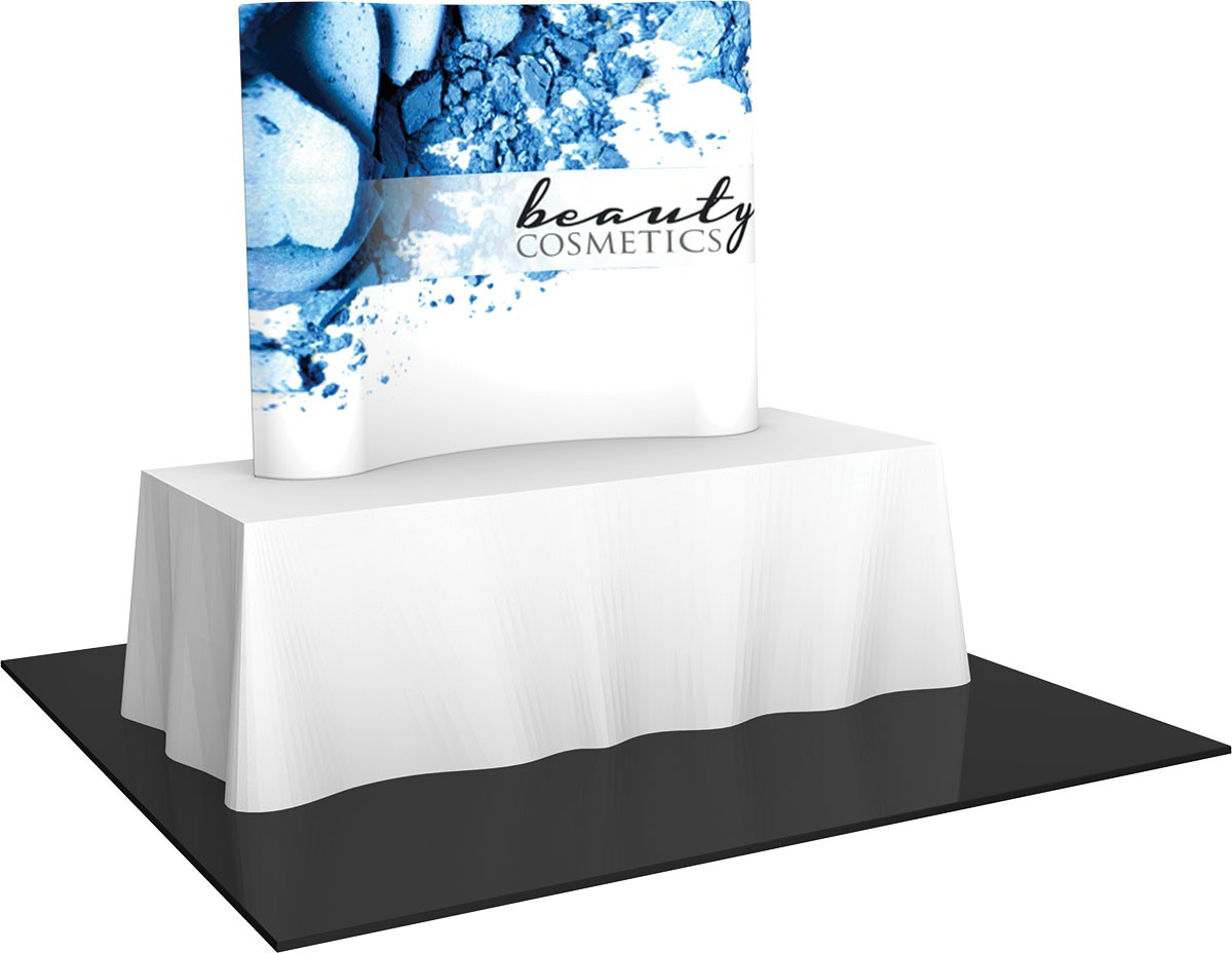 Formulate Essentials Horizontal Curve Tension Fabric Table Top Display