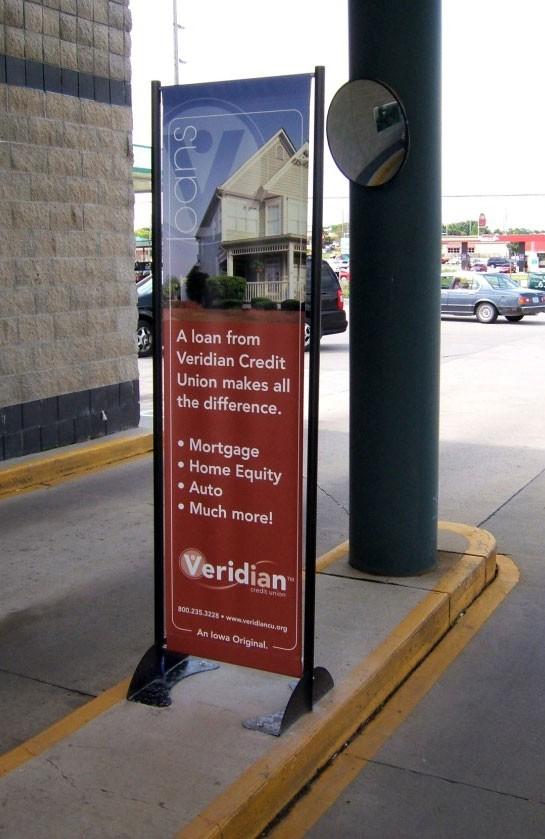 Beau ... Messenger Permanent Outdoor Banner Stand ...