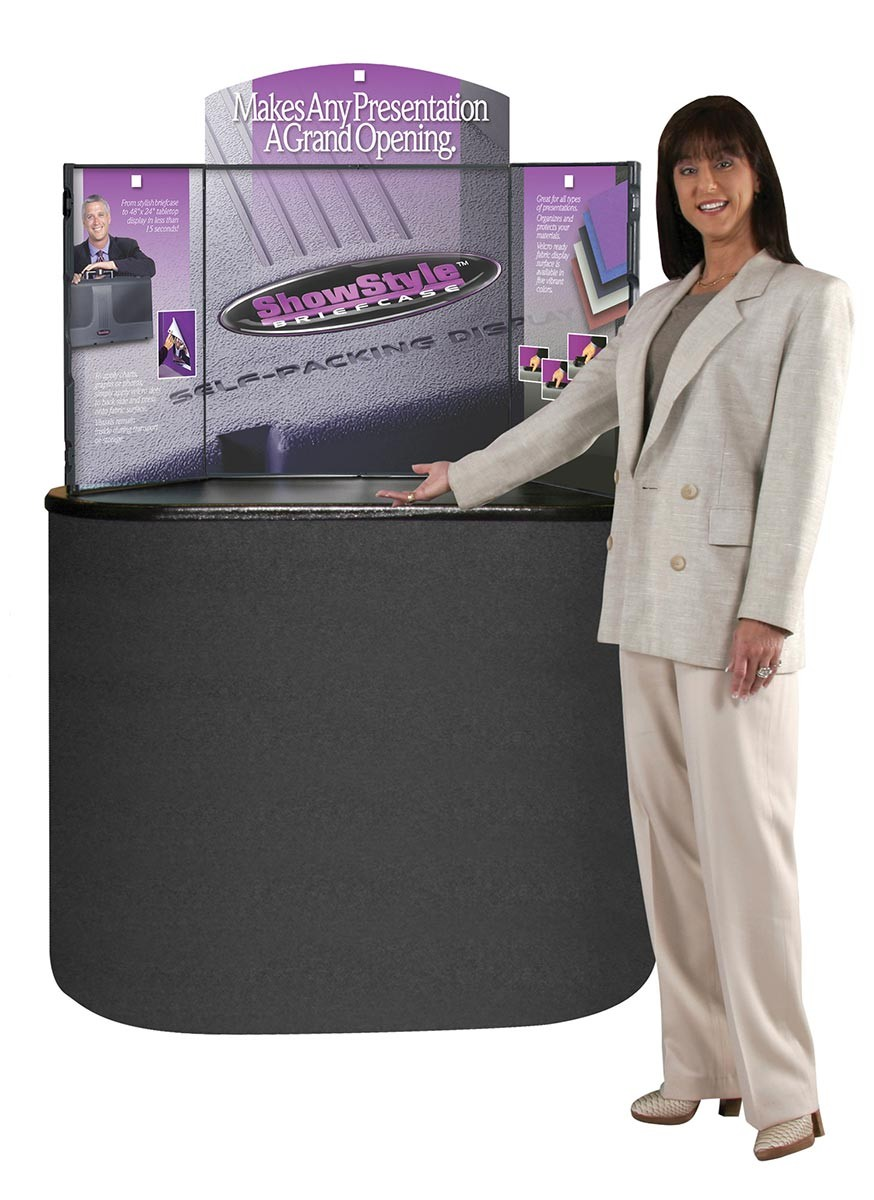 ShowStyle Self-Packing Table Top Briefcase Display