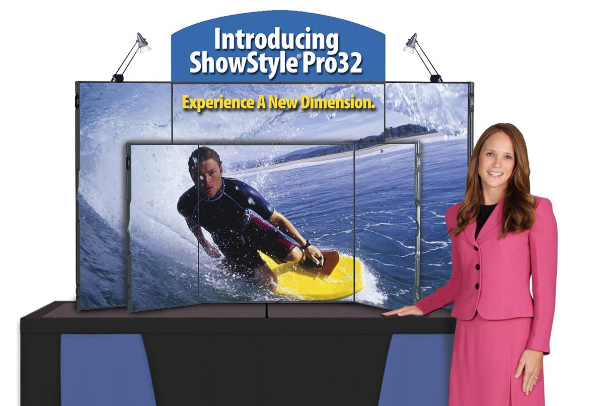 ShowStyle Pro 32 Self-Packing Table Top Briefcase Display
