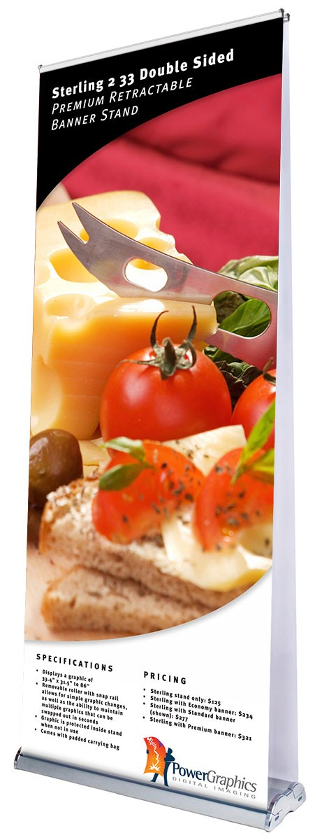 Sterling 2 33 Double Sided Retractable Banner Stand