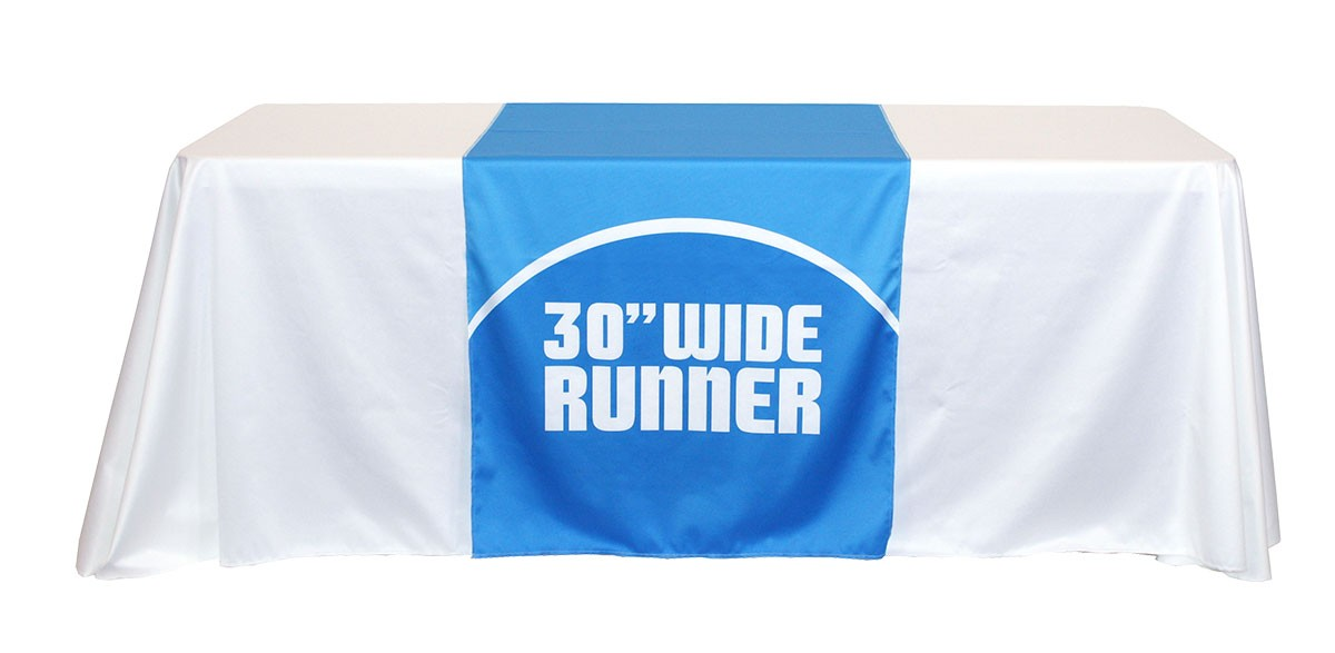 ... Full Color 30 Inch Wide Table Runner