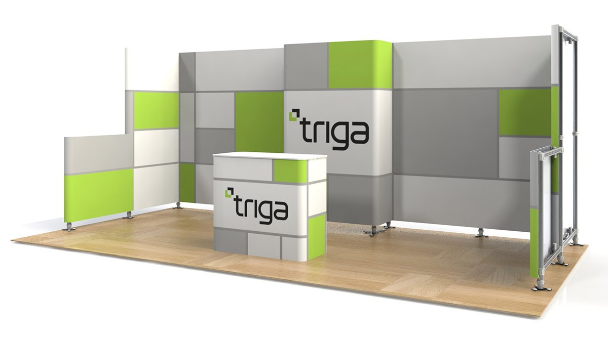Exhibition Booth Package : Triga trade show booth package f