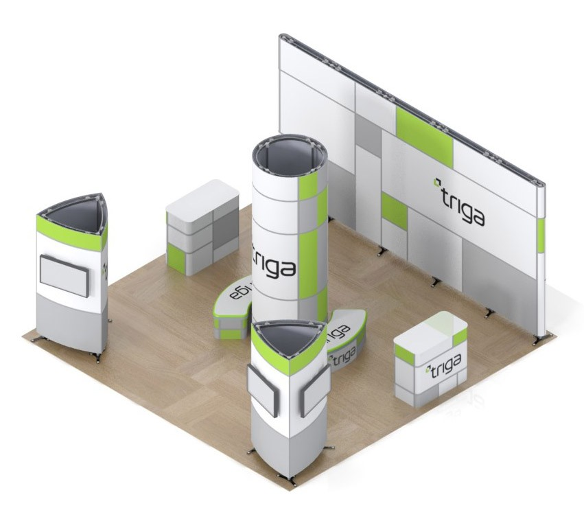 Exhibition Booth Package : Triga trade show booth package a
