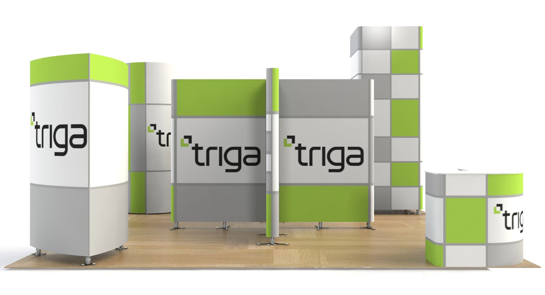 Exhibition Booth Package : Triga trade show booth package b