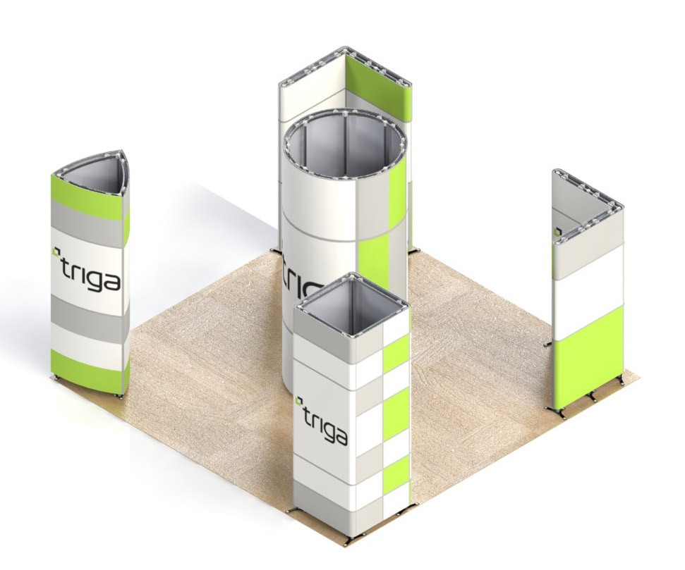 Exhibition Booth Package : Triga trade show booth package c