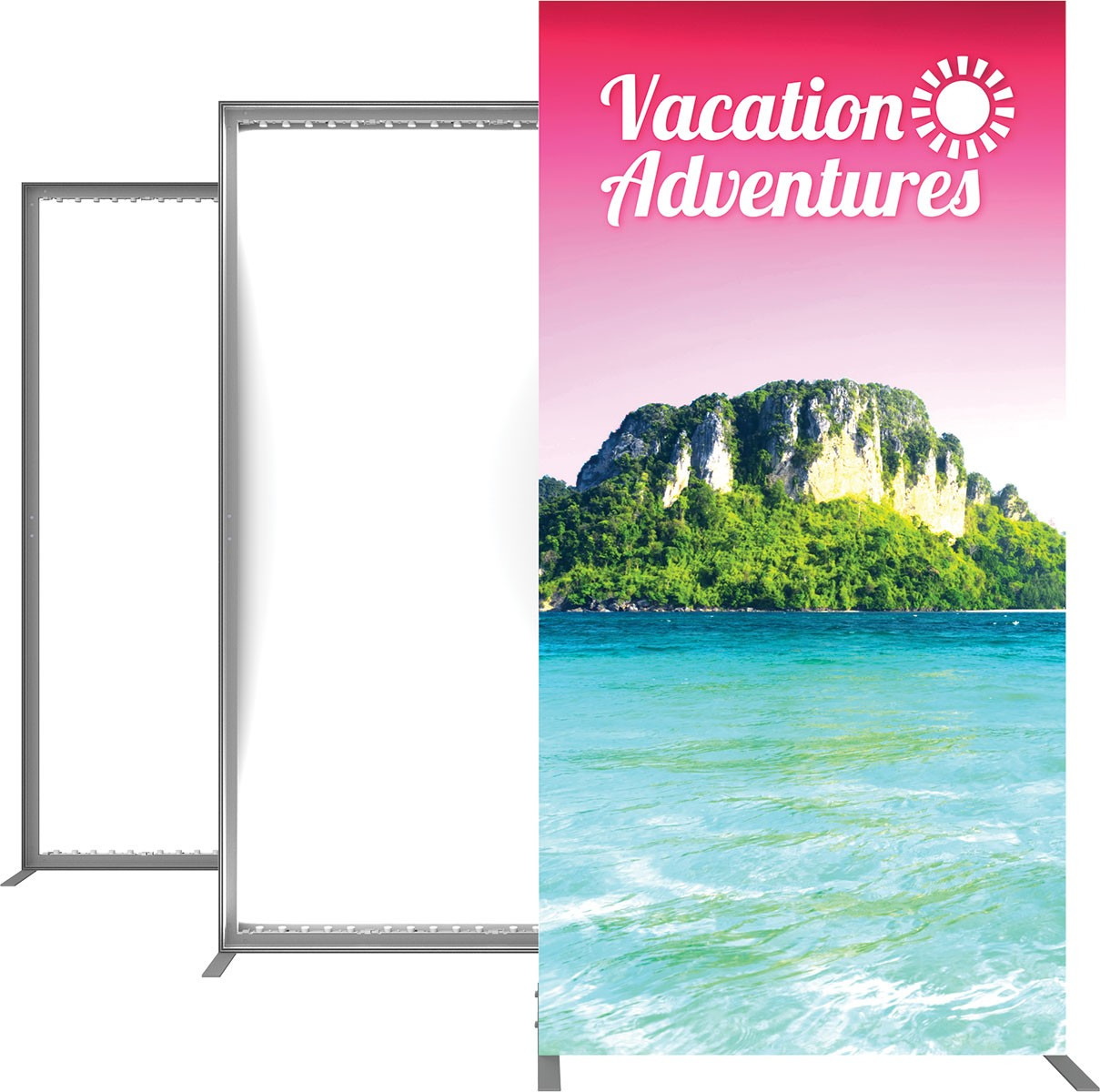 Vector Frame Backlit Display 3x4 Illuminated Tension Fabric Display