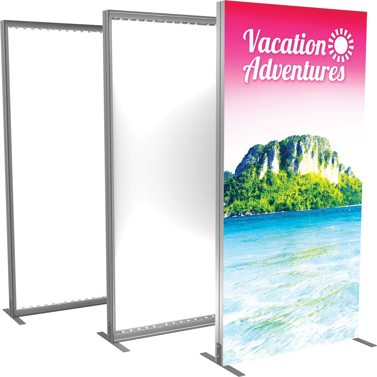 Vector Frame Backlit Display 4x8 | TradeShowDisplayPros.com