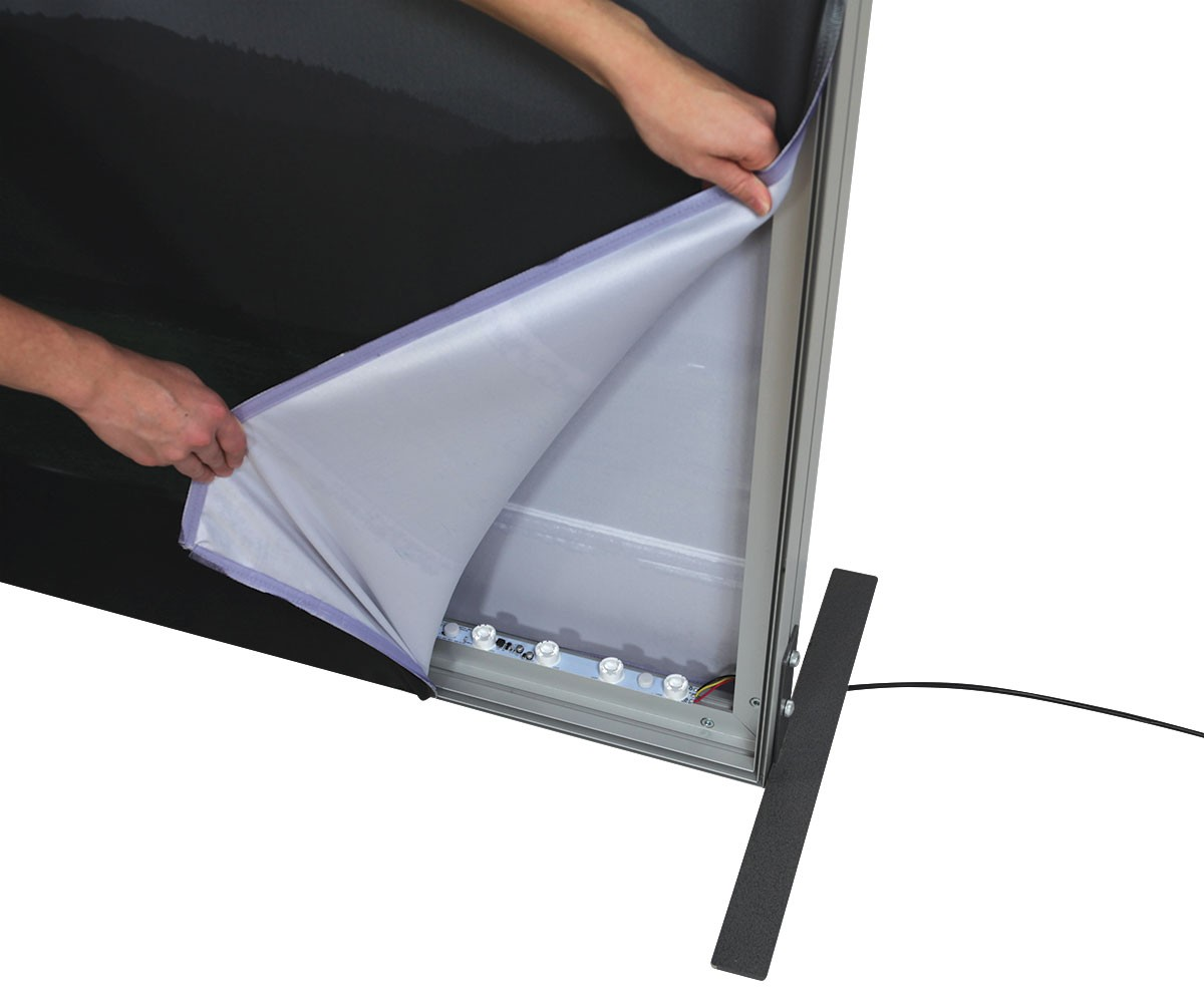 Vector Frame Backlit Banner 30x8 Illuminated Tension Fabric Display