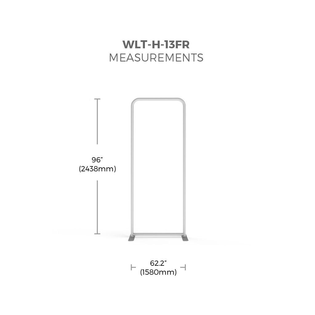 WaveLight 3' Premium Backlit Fabric Display