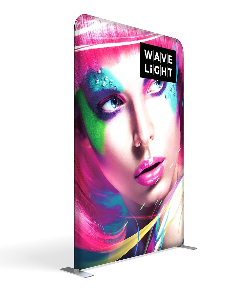 WaveLight 5' Premium Backlit Fabric Display