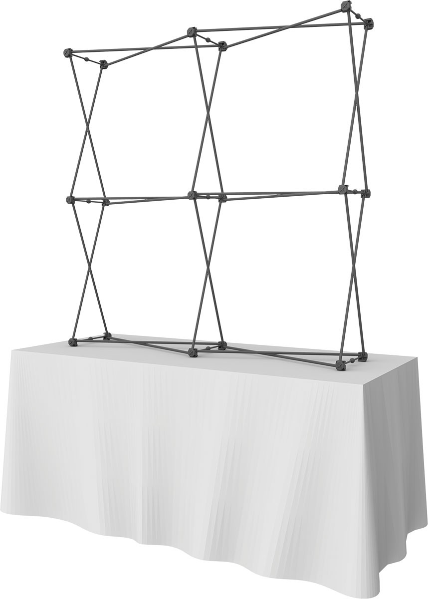 ... Xclaim 2x2 Kit 3 Collage Tension Fabric Table Top Display ...