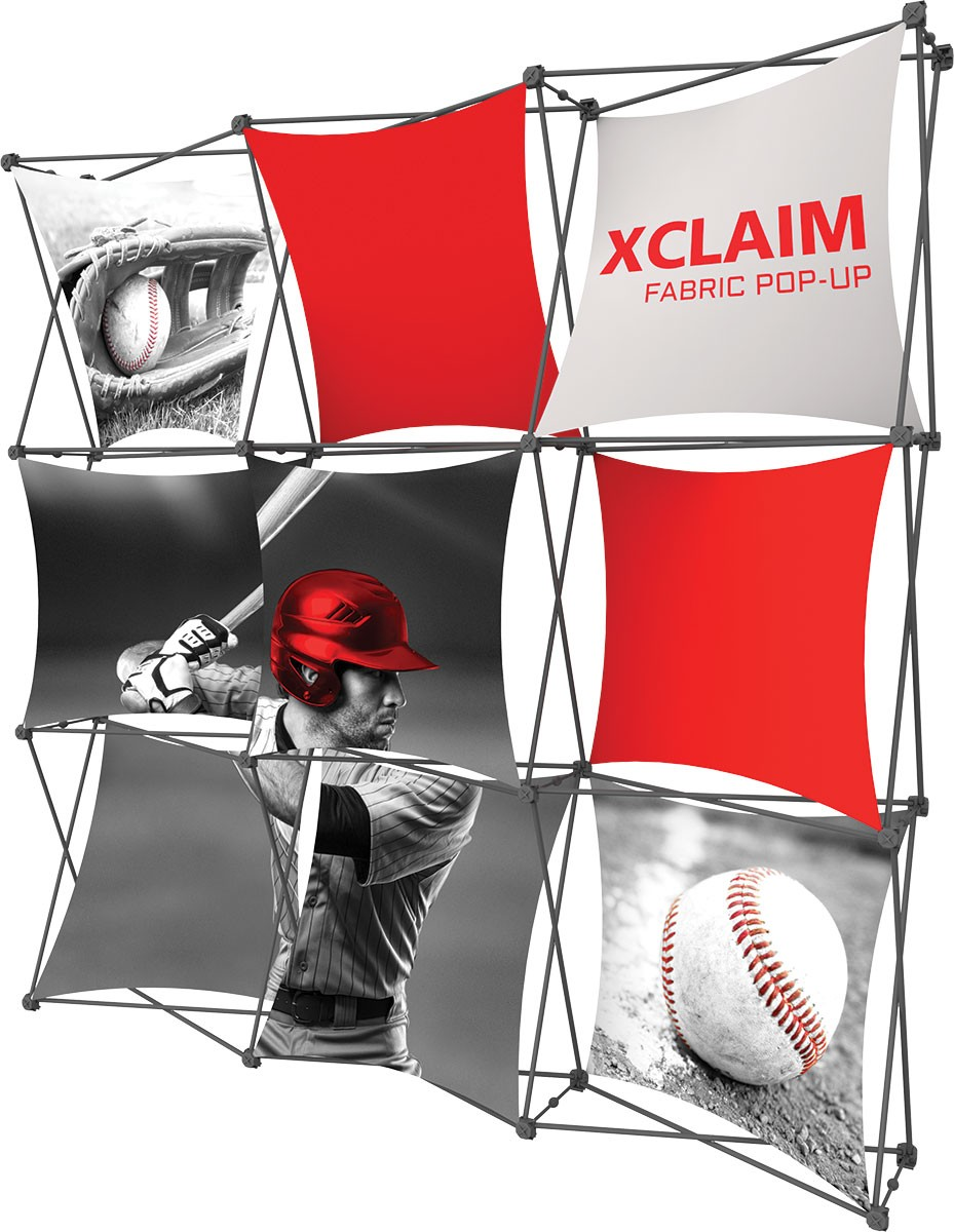Fabric Pop Up Exhibition Stands : Xclaim fabric pop up display kit