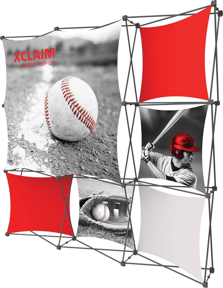 XClaim 3x3 Fabric Pop Up Display Kit 3