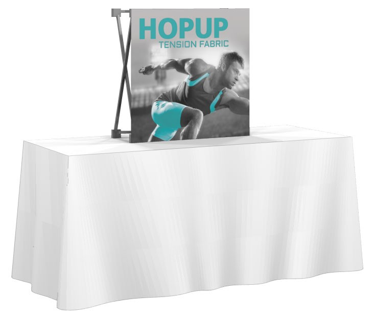 hopup 2 5 x2 5 front replacement graphic tradeshowdisplaypros com rh tradeshowdisplaypros com table top display cases table top display rack