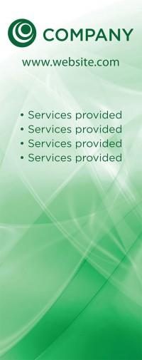 Banner Design - Green Swirl