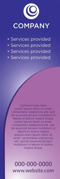 Banner Design - Purple Arch