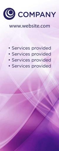 Banner Design - Purple Swirl