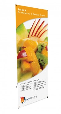 Econo X Large Portable X Banner Stand