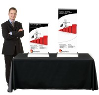 Executive Table Top Retractable Table Top Banner Stand