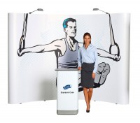 Expand 2000 Curved 4x3 Pop Up Trade Show Display