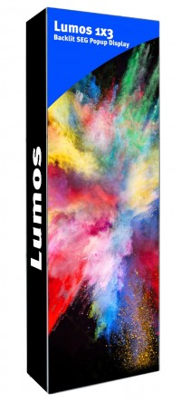 Lumos 1x3 Backlit SEG Popup Display