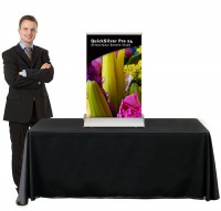 QuickSilver Pro 24 Table Top retractable banner stand