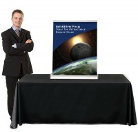 QuickSilver Pro 31 Table Top retractable banner stand