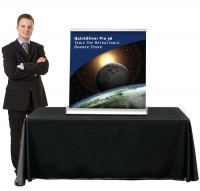 QuickSilver Pro 36 Table Top retractable banner stand