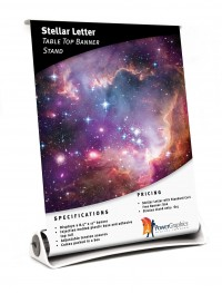 Stellar Letter Table Top Banner Stand