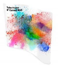 Tube Frame 8' Curve Wall Pillowcase Fabric Display