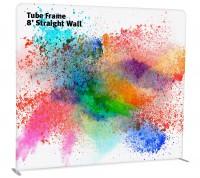 Tube Frame 8' Straight Wall Pillowcase Fabric Display