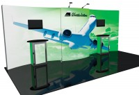 Formulate 10 ft Vertical Curve Wall Tension Fabric Display