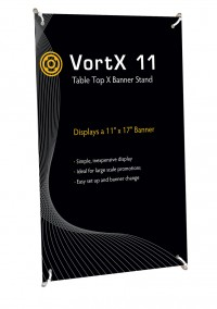VortX 11 Table Top X Banner Stand