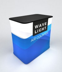 WaveLight Air Rectangle Backlit Inflatable Counter