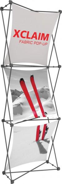 XClaim 1x3 Fabric Pop Up Display Kit 1