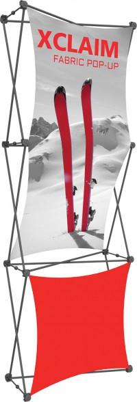 XClaim 1x3 Fabric Pop Up Display Kit 2