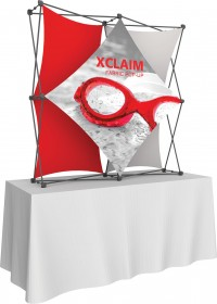 Xclaim 2x2 Kit 2 collage tension fabric table top display