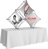 XClaim 3 Quad Pyramid Fabric Table Top Display Kit 1