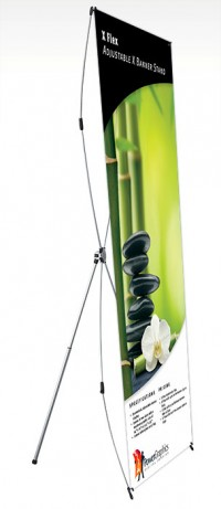 X Flex Small Adjustable X Banner Stand