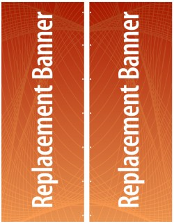 """Expand Flagstand XL 126"""" Double Sided Replacement Banner"""