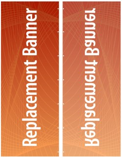 """Expand Flagstand XL 126"""" Single Sided Replacement Banner"""