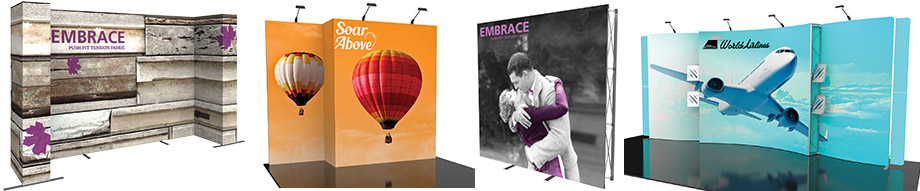 silicone edge graphic fabric trade show displays