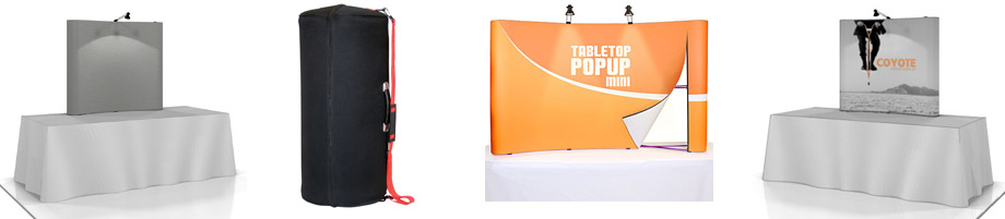 Table top pop up displays